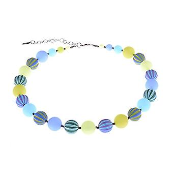 Adi - Women's necklace 'Juna', eye-conscious mixture, 14 mm, original Polaris pearls and striped accent beads, made Ref. 4251188633221