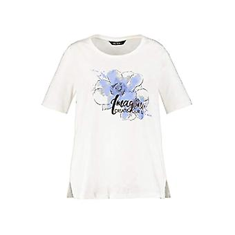 ULLA POPKEN Shirt mit Frontdruck Classic T-shirt with Front Print, White, 68 Woman