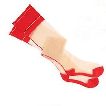 גבר גרביים סקסיים עבור סיסי גיי הלבשה תחתונה רטרו קו אחורי תפר סגנון טלאים