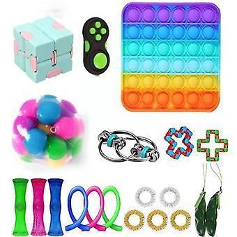 Kids Fidget Sensory Toys Stress 20 stk Set Pops det Voksen Anti-stress Legetøj Push Bubble Fidget Legetøj Relief Autisme Børn Boy Gift