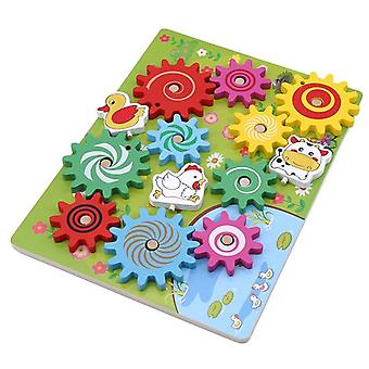 Dzieci drewniane zwierzęta biegi 3D blok bloków materiały zabawki edukacja dzieci prezent| Bloki