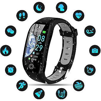 Smart watch IP68 Waterproof Smart Bracelet Colorful Screen Smartwatch with Cardio Pedometer Sleep Alarm Notifications for iPhone Huawei Samsung Xiaomi Sony-Gray