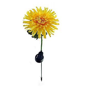 1 Pcs yellow solar led chrysanthemum light, outdoor garden landscape lamp£¬led simulation flower lawn lamp az9301