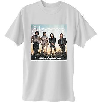 The Doors - Czekając na Duży T-Shirt Dla Mężczyzn Sun - Biały