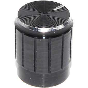 Buton de control din metal negru de 5buc - Arbore de 6 mm
