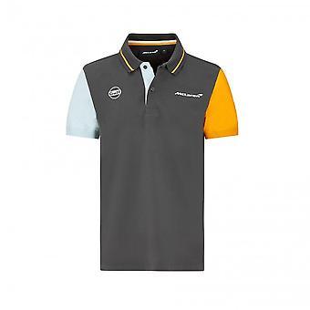 McLaren Mclaren Gulf Colour Block Polo Shirt 2021
