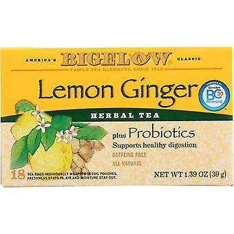 Bigelow Tea Lemon Gngr 18Bg, Case of 6 X 1.39 Oz