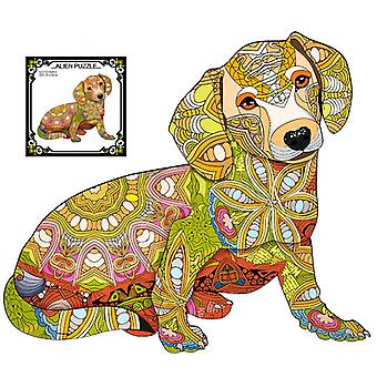 Children's Puzzles Animal Shapes Wood 3d Jigsaw Puzzle Dog-shaped Children Puzzles Gifts