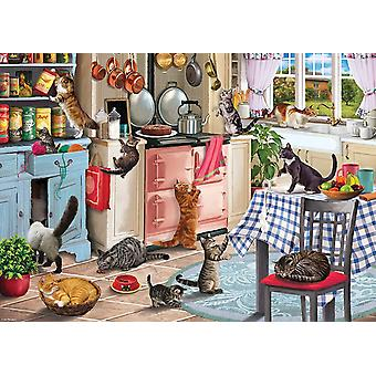 Otter House Cats In The Kitchen Jigsaw Puzzle (1000 Pieces)