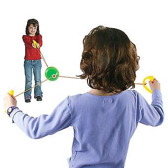Juguetes para niños Jumbo Bolas de velocidad a través de tirar de la pelota juegos interiores y exteriores Regalo de juguete (rosa)