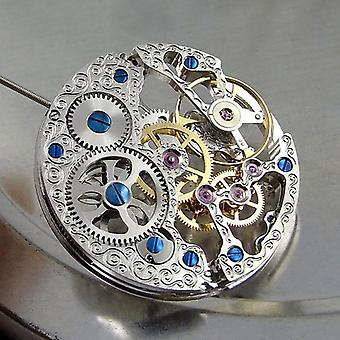 Jewels Full Skeleton, Hand-winding Movement Replacement Durable For Watch