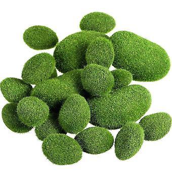 20 Pieces 2 Sizes Artificial Moss Rocks