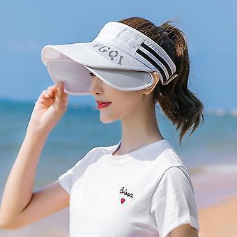 Femei de vară Brim Lărgirea Gol Top Visor Sport Stil Feminin Sunshade Caps (Ca Descriere)