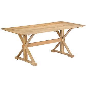 vidaXL طاولة الطعام 180 × 90 × 76 سم المانجو الخشب الصلب