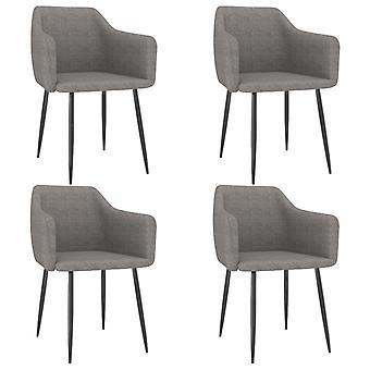 vidaXL dining chairs 4 pcs. light grey fabric