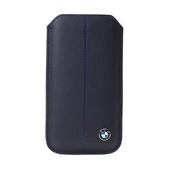 Bmw Universal Leather Case Blue Size S - Blue