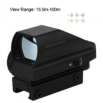 Tactical Red Green Dot Holographic Sight 4 Reticle Reflex For Outdoor