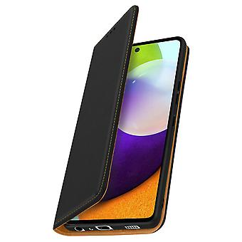 Case Samsung Galaxy A52 and A52 5G Card Holder Video Genuine Leather Black