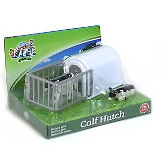 KidsGlobe  (Kids Globe) Kids Globe Calf 'Hutch' House With 2 Calves 1:32  571964