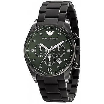 Emporio Armani AR5922 Green Sports Silicone Quartz Chronograph Watch