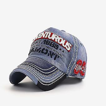 Embroidery Denim Letter Baseball Cap Trendy Snapback Hat Gorra