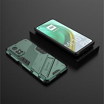 BIBERCAS Xiaomi Mi 10T Pro Case with Kickstand - Shockproof Armor Case Cover TPU Green