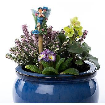 Cane Companions Flower Fairies - Cornflower Fairy Cane Topper Colorful Ornament