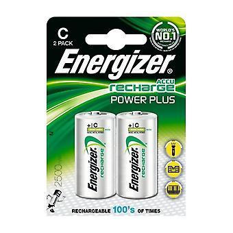 Rechargeable Batteries Energizer ENRC2500P2 C HR14 2500 mAh