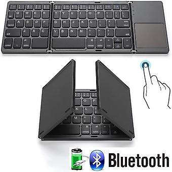 Qwert High Tech Folding 64 Keys Office Keyboard Bluetooth Wireless Rechargeable Keypad
