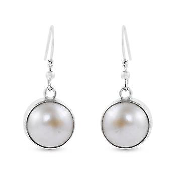 Royal Bali Gyűjtemény Fehér Gyöngy Csepp Dangle Fülbevaló Sterling Ezüst 4.16ct