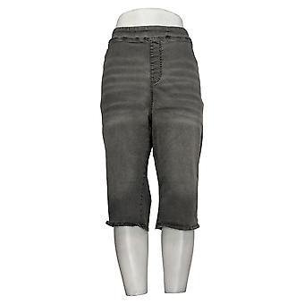 DG2 by Diane Gilman Petite Shorts Denim Pull-On Gray 741935