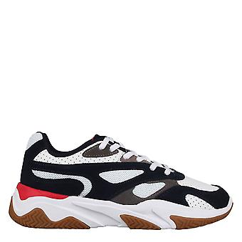 Fabric Boys Low Trainers Sports Shoes Chunky Heel Lace Up Sports Training Shoes