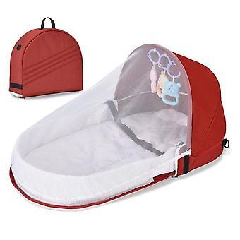 Lit pliable pour bébé Voyage Portable Bassinet Moustiquaire Respirant Bébé Panier de Couchage Avec Jouets