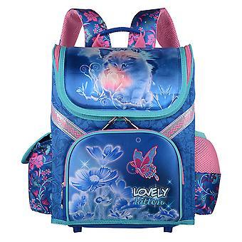 Girls Lovely Kitten Print Schoolbag