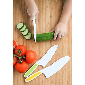 Facas para crianças 3 peças Nylon Kitchen Baking Knife Set: Children's