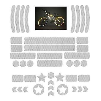 Autocollant réflecteur autocollant (42 pièces) Ensemble de film réfléchissant pour vélo