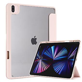 Vhodné pre 18/20/21 iPad Pro12.9 Hybridné tenké puzdro, s priehľadným zadným plášťom, puzdro odolné voči nárazom, svetlo ružové