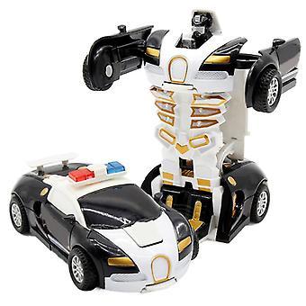 2 In 1 Verformung Roboter Kit 12-13cm Ein Schritt Verformung Spielzeug Auto Modell Kinder Spielzeug Geburtstag Geschenk-c