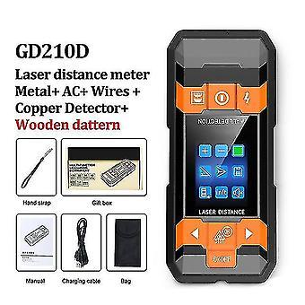Metal Detector Laser Rangefinder Wall Scanner Copper Ac Wire Wood Detector Wire Depth Tracker Tape Measure