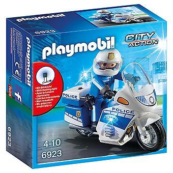 PLAYMOBIL 6923 policji rower z DIODĄ LED