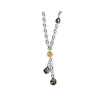 Multi Murano Glass Bead Necklace in Sterling Silver
