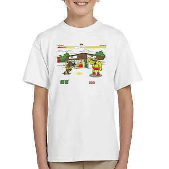 Springfield Fighter Street Fighter Simpsons Barney Zangief Apu Dhalism Kid's T-Shirt