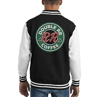 Твин Пикс двойной RR Damn штрафа кофе Starbucks малыша Varsity куртка