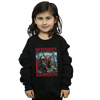 Marvel Girls Deadpool Here Lies Deadpool Sweatshirt