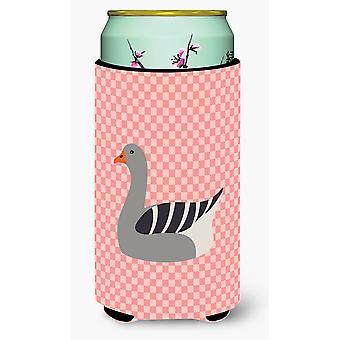 Pellegrino d'oca rosa Check Tall Boy Beverage isolante Hugger