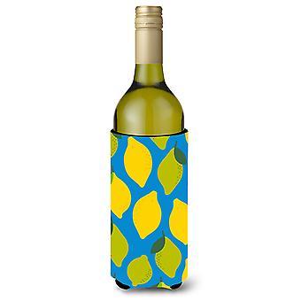 Citroenen en limoenen (lemmetjes) fles wijn Beverge isolator Hugger