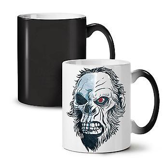 Monkey Skeleton Skull NEW Black Colour Changing Tea Coffee Ceramic Mug 11 oz | Wellcoda