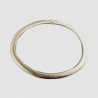 9ct ouro oval gargantilha colar de corpo de serpente