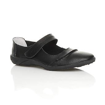 Ajvani naisten täysi nahka comfort koukku & silmukka, kävely kengät