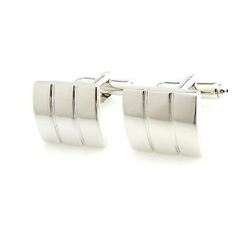 Herre damer sølv Tone rustfrit stål kolonne stil manchetknapper bryllup formel Business